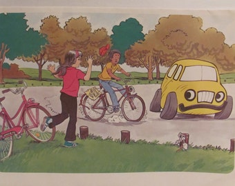 Vintage Bicycle Safety Posters