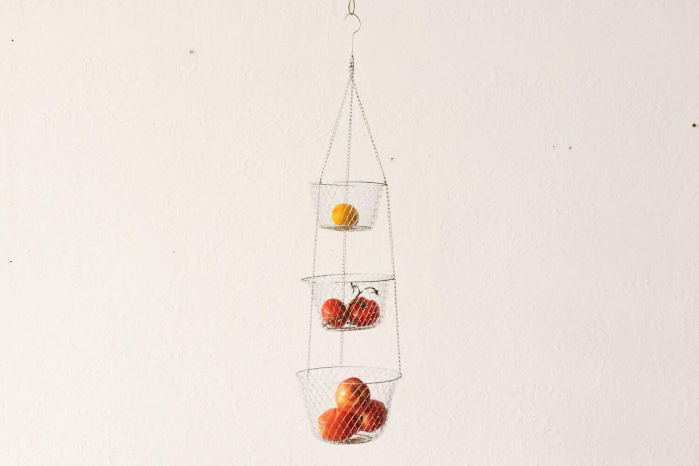 Hanging Basket Three Tier Kitchen Wire Fruit Basket