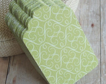 Sale: Paper Tags, Gift Tags, Labeling Tags, Green Tag Set of 10