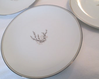 Vintage Noritake China Candice 5509 Dessert / Bread Butter Plate - Set of 4