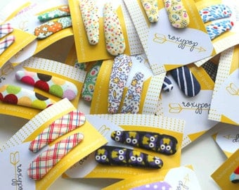 wholesale Hair Snap Clips - 12 pairs