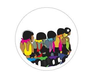Roller Derby Pin Back Button