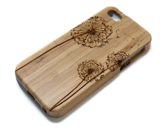 iphone 5 case / iphone 5S case wood - wooden iphone 5 case bamboo, cherry and walnut wood - Dandelion