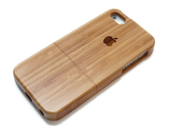 wooden iphone 5 case / iphone 5S case wood - wood iphone 5 case bamboo, cherry and walnut wood - apple