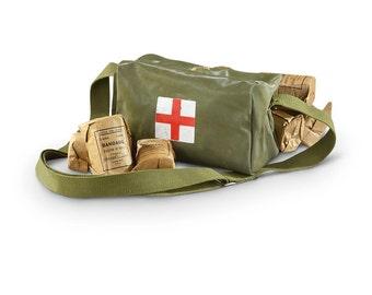 Vintage Green Chinese Army Messenger Bag