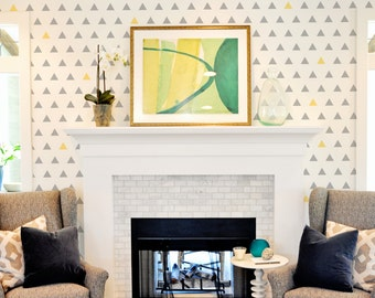 Equilateral Triangle Wall Stencil Reusable