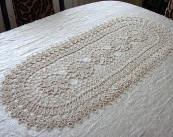 Crochet table runner. Crochet  doily