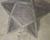 """8"""" Paper Star Tree Topper - Spun Silver"""