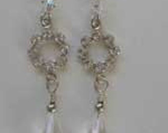 Swarovski and crystal quartz earrings