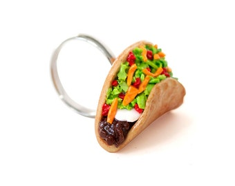 Taco Food Ring - Kawaii Jewelry