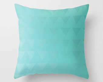 Pillow Cover Cyan - Cover Only - Blue Pillow - Sofa Pillow - Decorative Pillow - Home Decor -  Made to Order