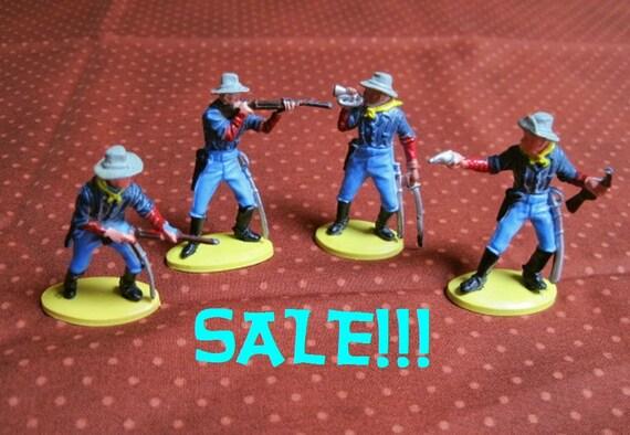 Britains Ltd Brand Four Plastic Western Cowboy Figures