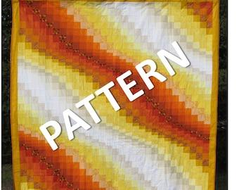 Pattern - Queen Size Quilt - Simple Bargello