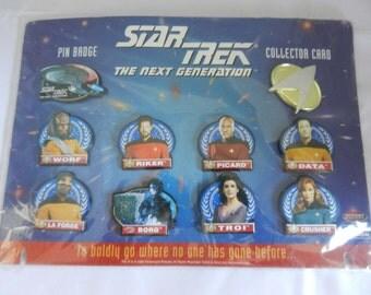 Star Trek Pin Badge Collectors Card
