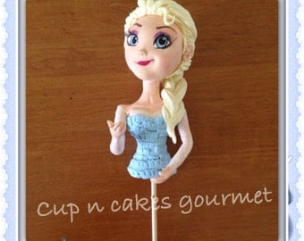 Queen Elsa (Frozen) cake topper for dress cake