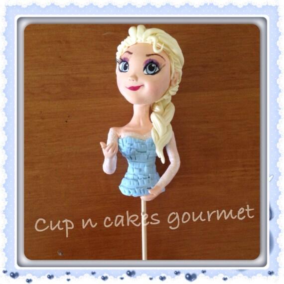 Queen Elsa Frozen cake topper for dress cake