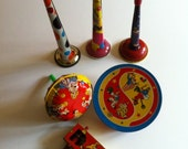 ON SALE Lot Vintage New Years Noisemakers Fun Graphics - drcarrot