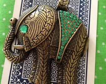 Elephant Jewelled Pendant