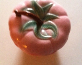 Vintage Strawberry Cookie Jar In Very Good Condition