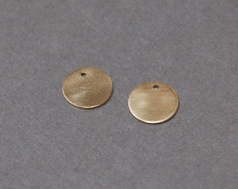 7.8mm Solid 14K Yellow Gold Discs - Set of 2
