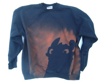 Toothless from How to Train Your Dragon sweatshirt