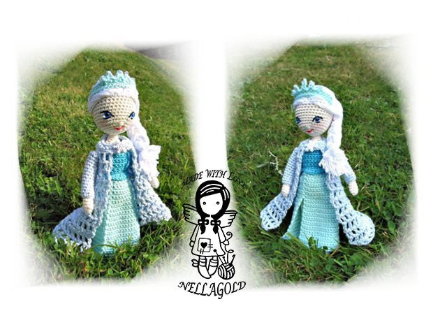 Crochet Elsa Doll Pattern : Crochet PATTERN FROZEN Queen Elsa by NellagoldsCrocheting ...