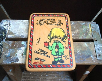 Happiness is Having You as My Teacher Plaque 1979