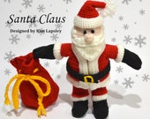 Santa Claus Crochet PDF Pattern Removable Clothes