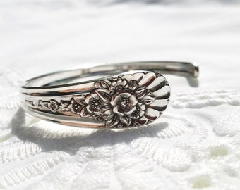 Beautiful Antique Silverware Cuff  Bracelet