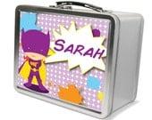 Personalized Superhero Lunchbox & Memory Box - Gifts for Girls- Bat Girl