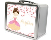 Personalized Princess Lunchbox & Memory Box - Gifts for Girls, Metal Lunch Box