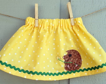 CLEARANCE - Toddler Girl Hedgehog Skirt - 6 month