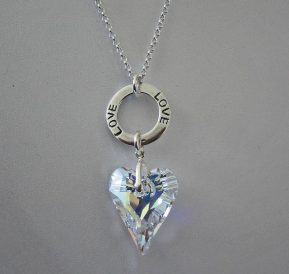 Silver Wild Heart LOVE Necklace