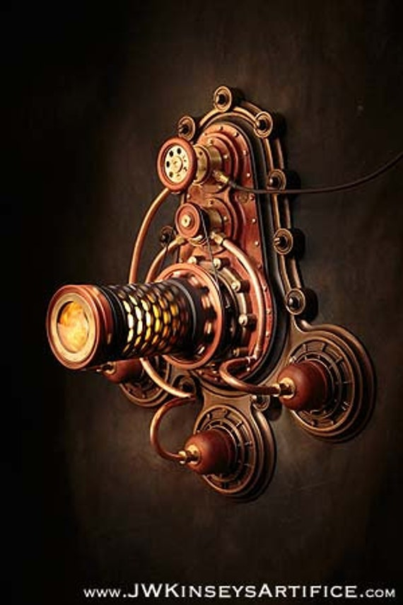 the Braxtonian Lantern: a hand-made steampunk styled lamp