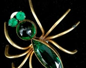 Early Figural Spider Brooch - Vintageimagine