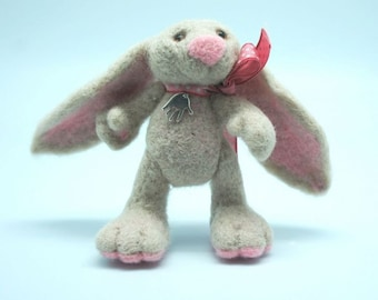 Needle felted cute little bunny MADE TO ORDER