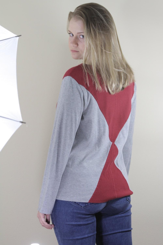 Gryffindor House Inspired Sweater // Crimson & Grey Knit