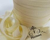Cream - Dark Ivory Elastic - Light Pastel - Natural, Neutral MUST HAVE, DIY - headbands - Fashion Bracelets - Elastic Hair Ties