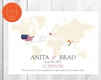 Map Save the Date Card