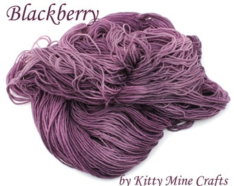 Hand Dyed MCN Sock Yarn - 80/ 10/ 10 blend Superwash Merino Wool, Cashmere & Nylon - 3.5oz/ 100g - 430yds/ 393m - Kettle Dyed
