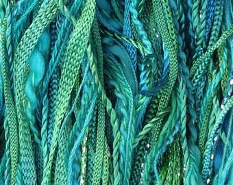 One Off, No.20 Jade, Hand Dyed Cotton and Viscose Thread Selection,