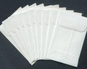 10 Little White Envelopes - Altered Books, Wedding Favours, Artist Trading Cards, Card Making
