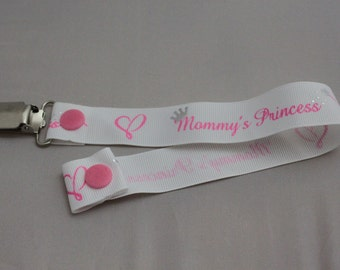 Mommy's Princess Pacifier clip