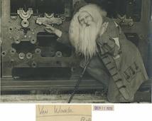 Rip van Winkle actor in costume amazing antique photo