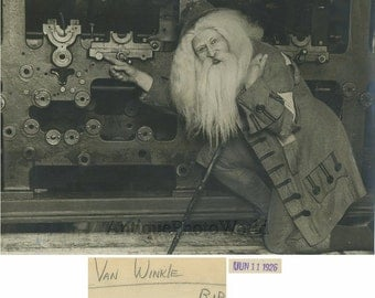 Rip van Winkle actor in costume amazing antique photo