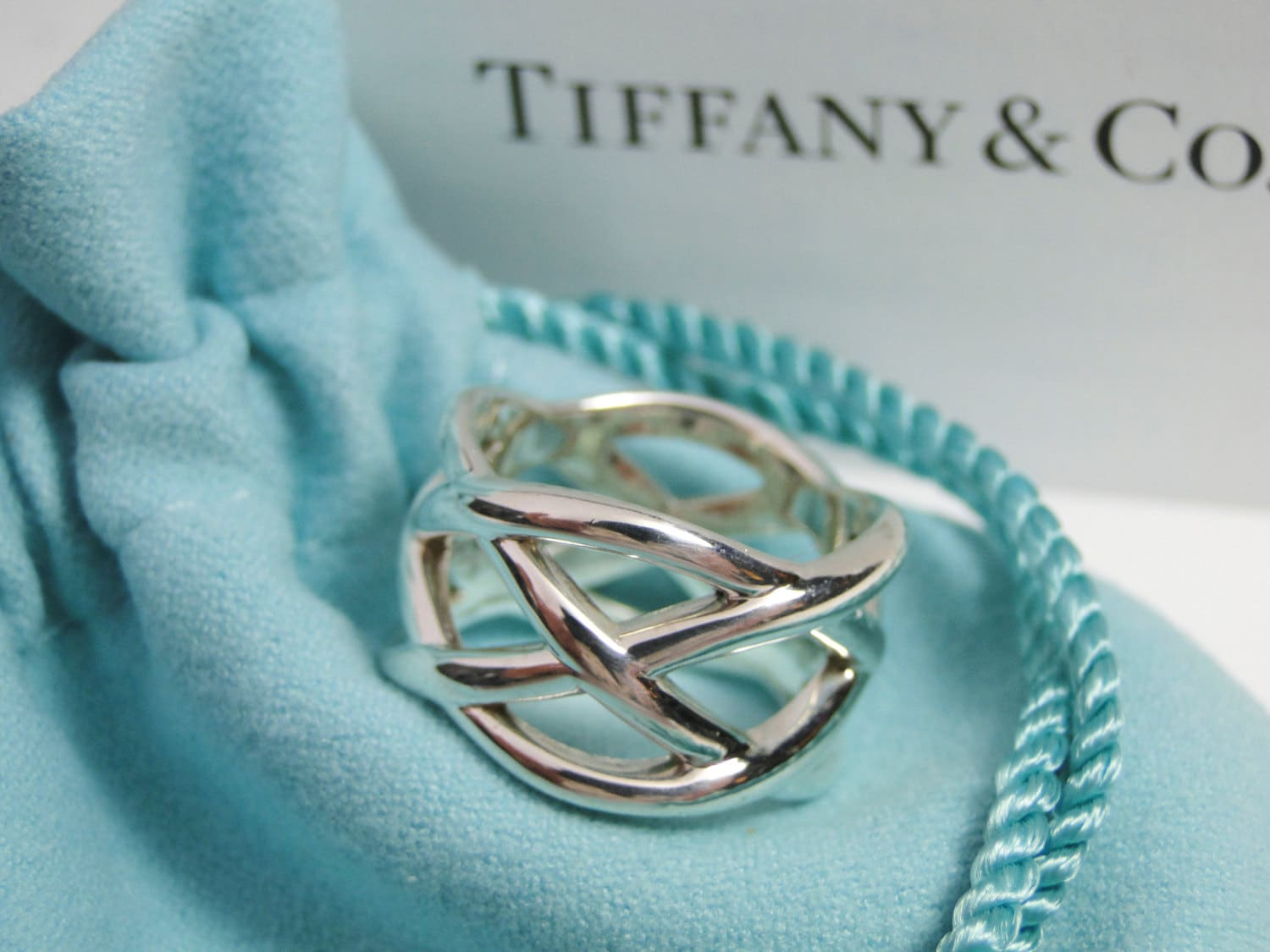 Tiffany Amp Co Braided Love Knot Ring Size 6