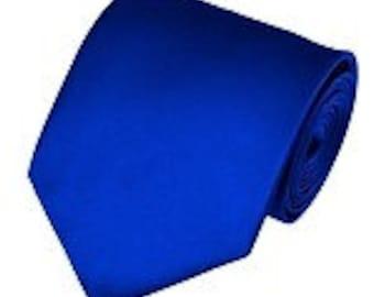 mens Royal blue  necktie custom made many colors