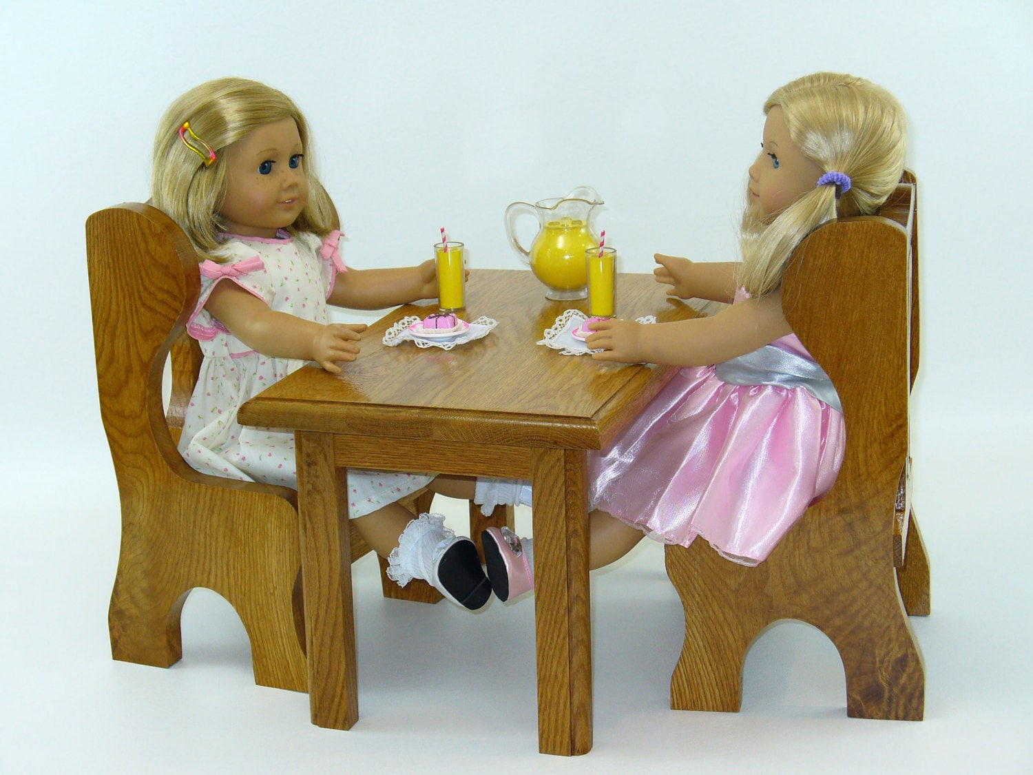 American Girl Doll Furniture Dining Set Table by  : ilfullxfull625724619aagx from www.etsy.com size 1500 x 1125 jpeg 330kB