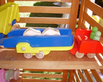 Childrens Wood Toy Flatbed Truck