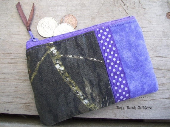 Purple Camo Coin Purse